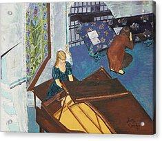 Recital Rehersal Acrylic Print by Betty Compton
