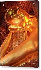 Reclining Buddha Acrylic Print by Adam Romanowicz