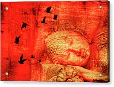 Reclining Buddha Acrylic Print by Grant Faint