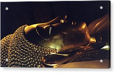 Acrylic Print featuring the photograph Reclining Buddha by Mary Bedy