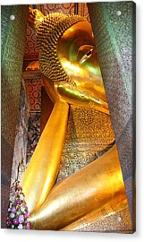 Reclining Buddha - Wat Pho - Bangkok Thailand - 01132 Acrylic Print