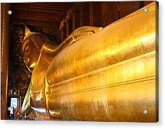 Reclining Buddha - Wat Pho - Bangkok Thailand - 01135 Acrylic Print