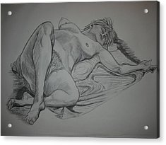 Reclining Female Nude Acrylic Print
