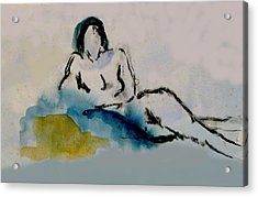 Reclining Figure Acrylic Print by James Gallagher