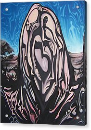 Acrylic Print featuring the painting Recluse by Michael  TMAD Finney