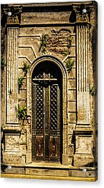 Acrylic Print featuring the photograph Recoleta Crypt Door by Rob Tullis