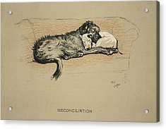 Reconciliation, 1930, 1st Edition Acrylic Print by Cecil Charles Windsor Aldin