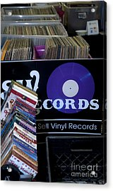 Record More Acrylic Print by Affini Woodley
