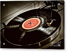 Record On Turntable Acrylic Print by Elena Elisseeva