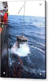 Recovering Robotic Underwater Vehicle Acrylic Print by B. Murton/southampton Oceanography Centre