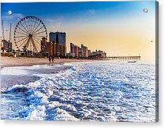 Recreation Beach Sunrise Acrylic Print by Kirk Strickland