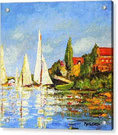 Recreation Of Boating At Argenteuil Acrylic Print by Marti Green