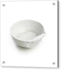 Recrystallised Rock Salt Acrylic Print by Science Photo Library