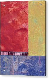 Rectangles - Abstract -art  Acrylic Print by Ann Powell