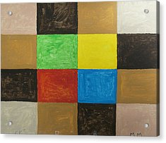 Rectangles Acrylic Print by Stormm Bradshaw