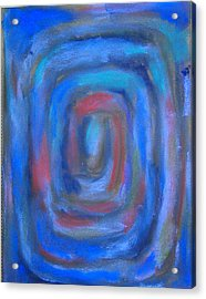 Rectangular Blue Pastel Spiral Acrylic Print by Kazuya Akimoto