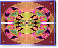 Rectified Anticipation Morphed 2010 Self-portrait 2014 Acrylic Print by James Warren