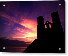 Reculver Church At Sunrise Acrylic Print by John Topman