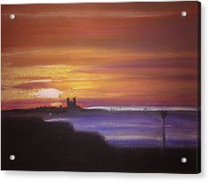 Reculver Sunset Acrylic Print by Paul Mitchell