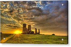 Reculver Towers Kent Sunset Acrylic Print