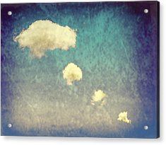 Recycled Clouds Acrylic Print by Amanda Elwell