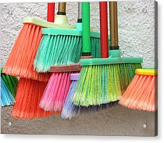 Recycled Plactic Brooms Acrylic Print