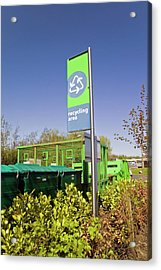 Recycling Collection Point Acrylic Print by Simon Fraser/science Photo Library