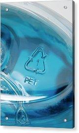 Recycling Symbol On Plastic Bottle Acrylic Print