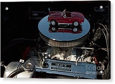 Red 1962 Chevrolet Corvette - Engine 327 - 300 Acrylic Print by Liane Wright