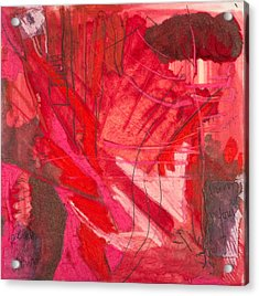 Red. 3 Acrylic Print by Marie Tosto