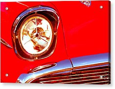Red 57 Chevy Close Up Acrylic Print
