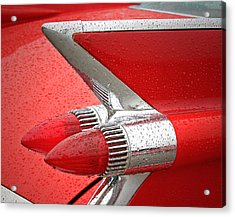 Red '59 Caddy Tail Acrylic Print