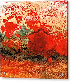 Red Abstract Art - Lava - By Sharon Cummings Acrylic Print by Sharon Cummings