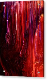 Red Abstract Art Acrylic Print