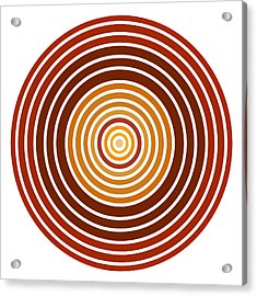 Red Abstract Circle Acrylic Print by Frank Tschakert
