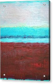 Red And Aqua Get Married Acrylic Print by Michelle Calkins