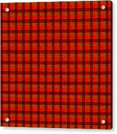 Red And Black Checkered Tablecloth Cloth Background Acrylic Print by Keith Webber Jr