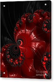 Red And Black  Acrylic Print by Heidi Smith