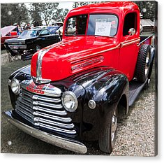 Acrylic Print featuring the photograph Red And Black Mercury Pick Up by Mick Flynn