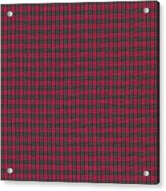 Red And Black Plaid Pattern Textile Background Acrylic Print by Keith Webber Jr
