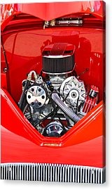 Red And Chrome Acrylic Print by Carolyn Marshall