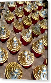 Acrylic Print featuring the photograph Red And Gold by Brenda Pressnall