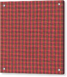 Red And Green Checked Plaid Pattern Cloth Background Acrylic Print by Keith Webber Jr