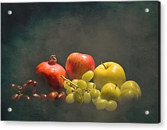 Red And Green Fruit Acrylic Print by Levin Rodriguez