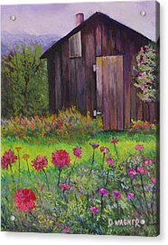 Red And Pink Flowers Acrylic Print by Denise Wagner