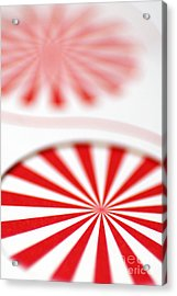 Red And White Pinwheels Acrylic Print by Amy Cicconi