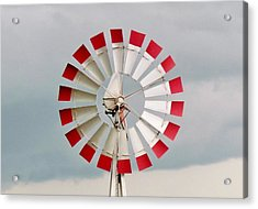 Acrylic Print featuring the photograph Red And White Windmill by Cynthia Guinn