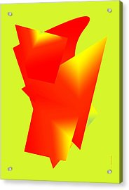 Red And Yellow Abstract Art Acrylic Print by Mario Perez