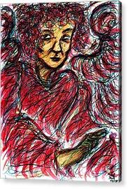 Red Angel Acrylic Print by Rachel Scott