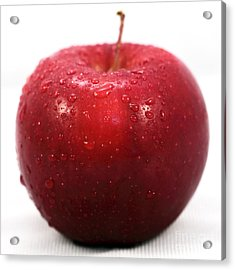 Red Apple Acrylic Print by John Rizzuto